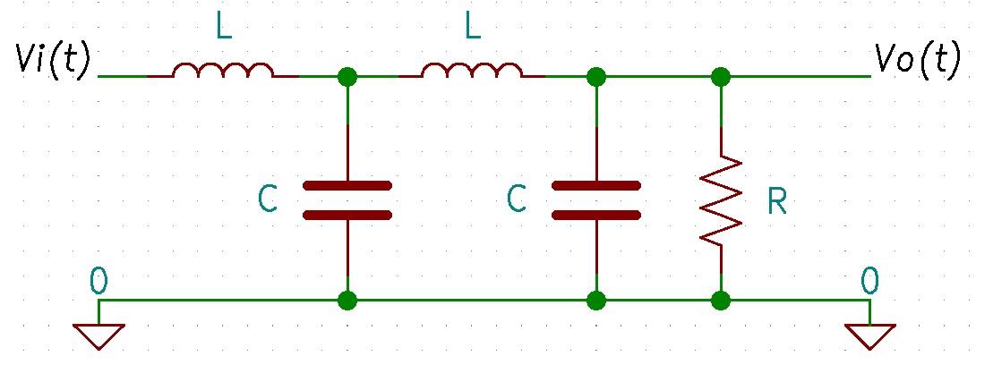Resumen electrónica analógica: ejemplo de circuito pasivo.