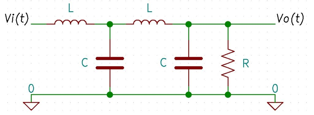Passive circuit schematic example.